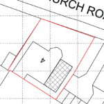 Plot sketch with red box and number four in centre