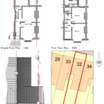 Floor plans of ground, first, second and roof floors with labelled rooms like kitchen and bedroom.